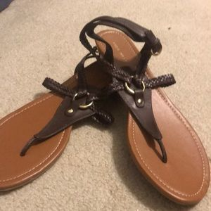 Nine West brown leather sandal. Size 11